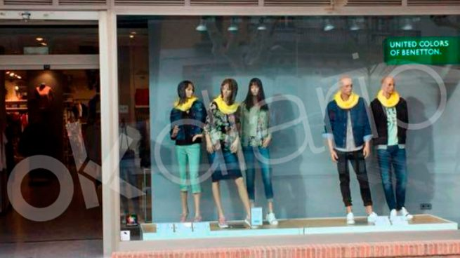 benetton monta escaparates independentistas en tiendas de