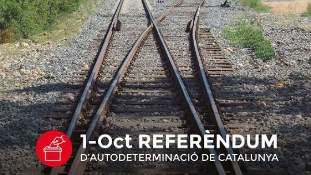 Uno de los anuncios que sirvieron para promocionar el referéndum ilegal del 1-O.