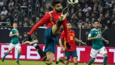Diego Costa, durante el partido ante Alemania. (AFP)