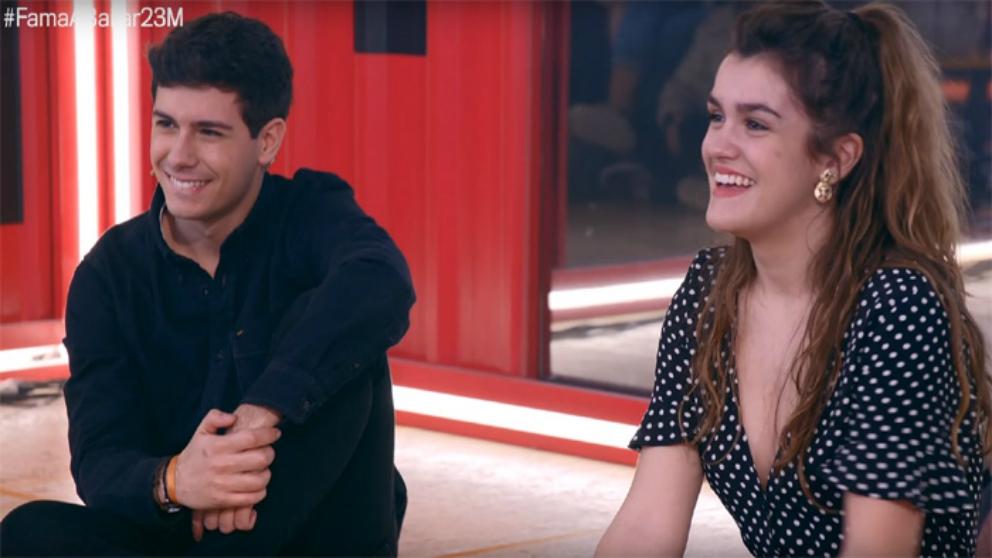 Alfred y Amaia en su visita a 'Fama a bailar'