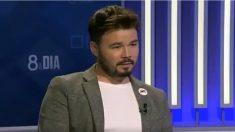el diputado de ERC Gabriel Rufián en sus declaraciones a la cadena catalana 8TV.