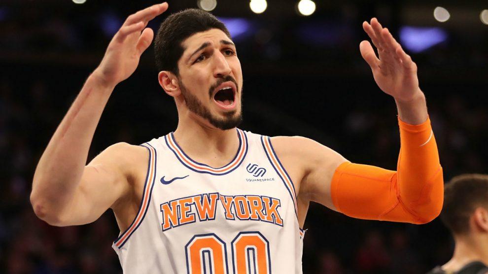 Enes Kanter es la estrella de los Knicks que no puede volver a casa. (Getty)
