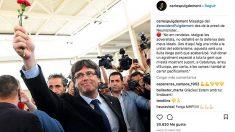 Carles Puigdemont ha colgado en su instagram un mensaje desde la cárcel alemana de Neumünster.