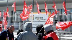 Huelga de los trabajadores del centro logístico de Amazon en San Fernando de Henares (Madrid) el pasado 21 y 22 de marzo. (Foto:Efe)