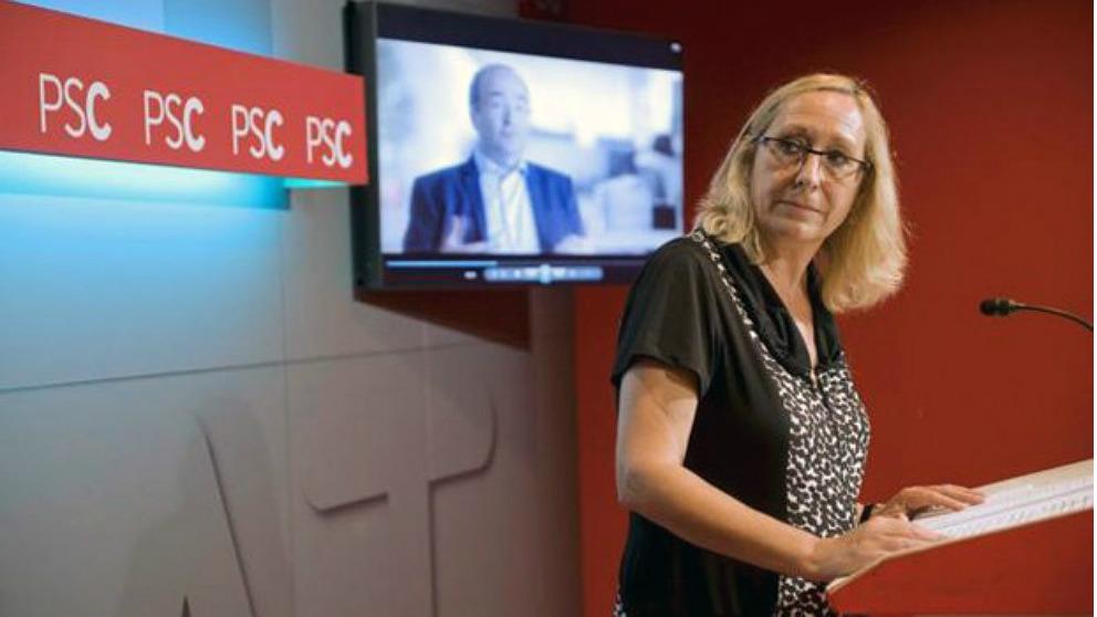 La portavoz de Sanidad del PSC, Assumpta Escarp.