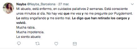 Bots independentistas difunden historias sobre abuelos enfermos preocupados por Puigdemont