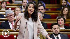 Inés Arrimadas, líder de Ciudadanos en Cataluña. (Foto: AFP)