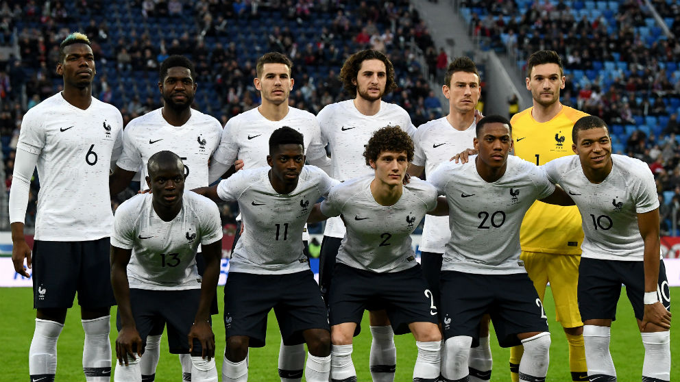 El once de Francia en Rusia. (AFP)