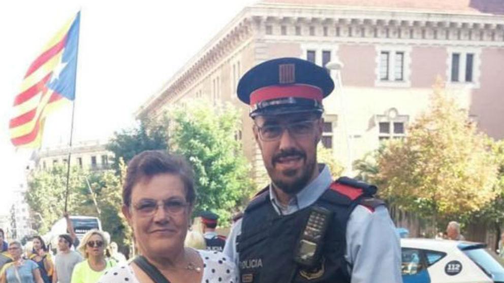 El mosso de Gerona Pep Blanco, que insulta al juez Llarena y al Presidente del Gobierno