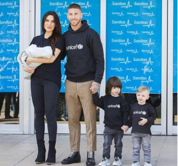 Pilar Rubio y Sergio Ramos presentan a su tercer hijo