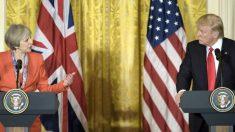 Theresa May y Donald Trump en la Casa Blanca. (Foto: AFP)
