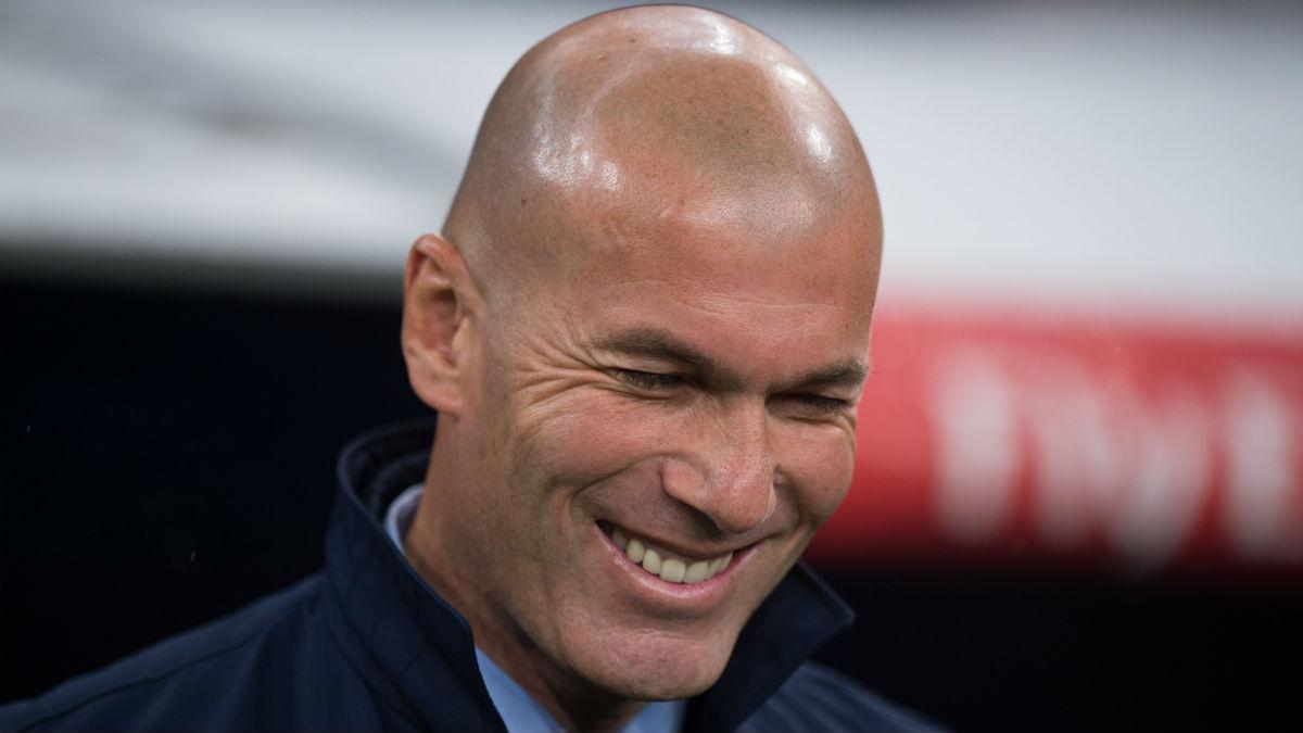Zidane, durante un partido de la presente temporada (Getty).