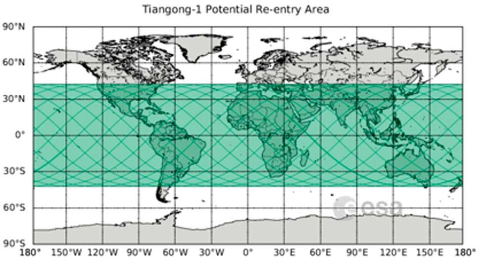 La estación espacial China chocará con la Tierra este fin de semana