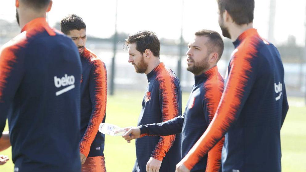 Messi durante un entrenamiento con el Barcelona. (F.C. Barcelona)