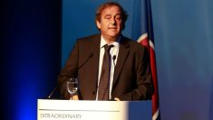 Michel Platini durante un congreso de la UEFA. (Getty)