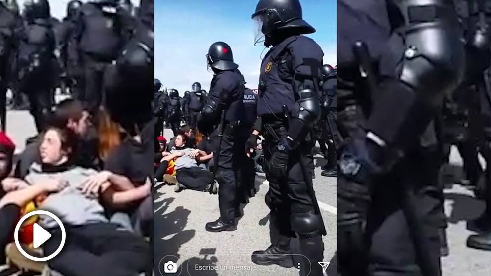 Los independentistas corean «mosso muerto, abono para mi huerto».