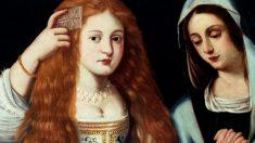Detalle del cuadro 'La alegoría de la vanidad', que podría ser un retrato de la famosa actriz del siglo XVII 'La Calderona'.