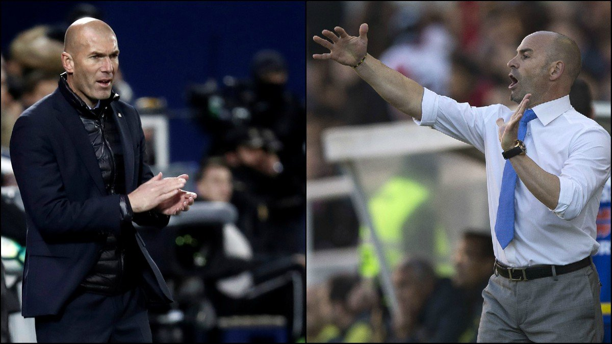 Zinedine Zidane y Paco Jémez.