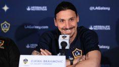 Ibrahimovic, en su presentación oficial con LA Galaxy.