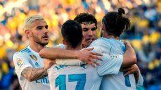 Los jugadores del Real Madrid celebran el gol de Bale. (EFE)