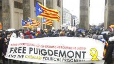 Manifestación separatista en Berlín para pedir la libertad de Puigdemont (Foto: AFP).