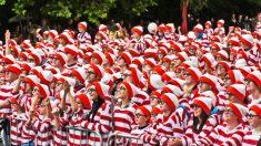 Segunda concentración más grande del mundo de personas disfrazadas como Wally en 2011 en Dublín, Irlanda.