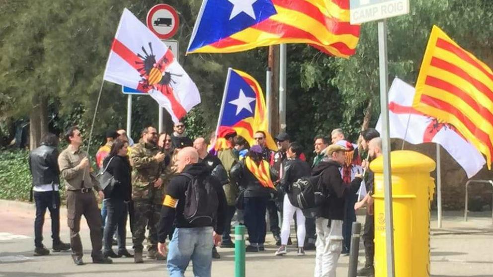 Una concentración del Movimiento Identitario Catalán (MIC)