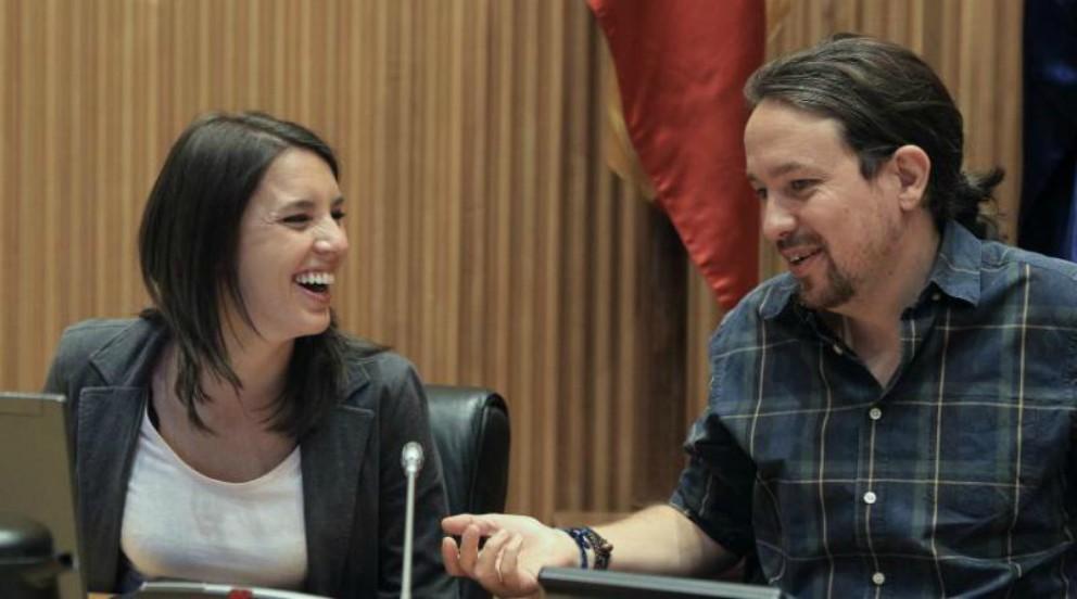 Pablo Iglesias e Irene Montero en el Congreso.