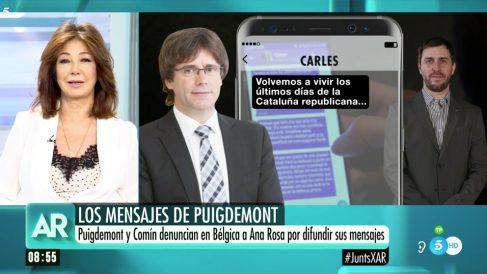 Ana Rosa Quintana responde a Carles Puigdemont.