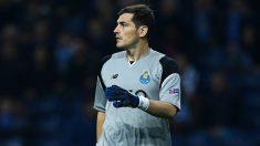 Casillas, durante un encuentro con el Porto. (Getty)