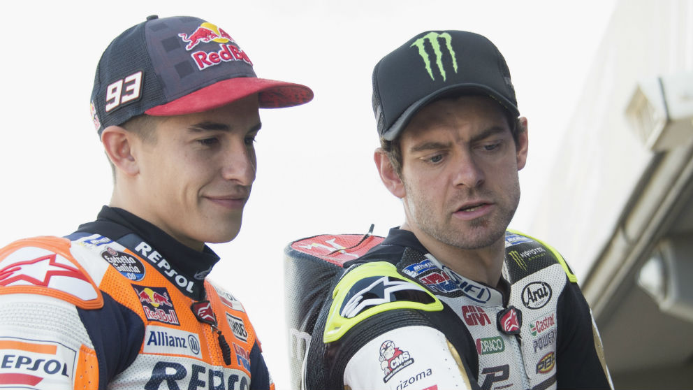 Según Cal Crutchlow, la Honda que pilotan tanto él mismo como Marc Márquez es, a día de hoy, la moto más complicada de la parrilla. (Getty)