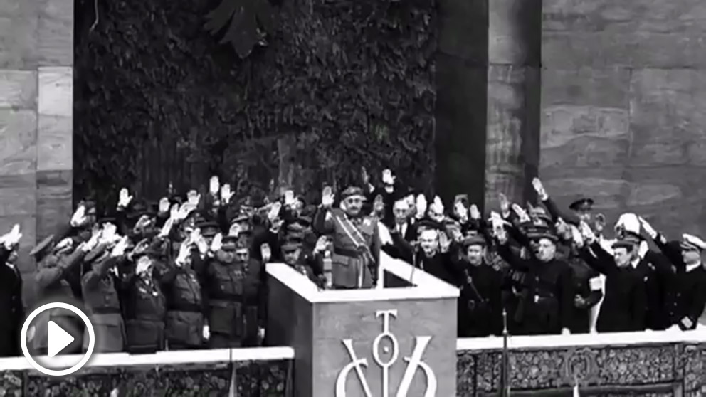 Vídeo publicado por la Fundación Francisco Franco en el aniversario del fin de la Guerra Civil.