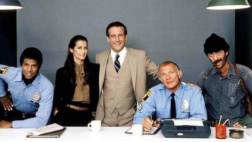 Los protagonistas de 'Hill Street Blues' (Canción triste de Hill Street), serie de TV creada por Steven Bochco.