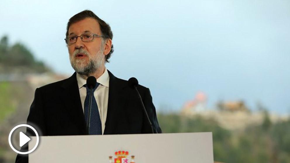 Mariano Rajoy, en las obras del tramo de la futura autovía A-57, entre Vilaboa y A Ermida.