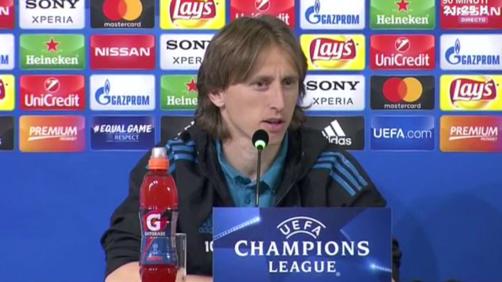 Luka Modric, durante la rueda de prensa previa al Juventus – Real Madrid.