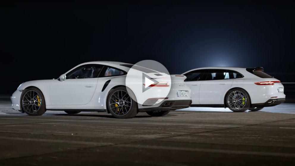 Porsche ha reunido a sus cinco modelos que más rápido aceleran de toda su historia para grabar este increíble vídeo.