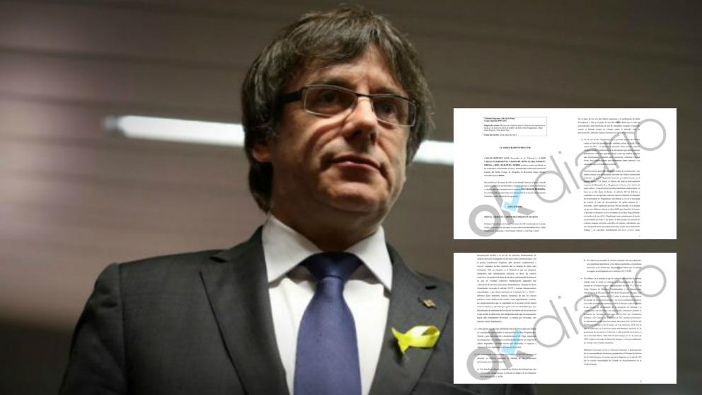 Carles Puigdemont, ex presidente catalán, y su recurso ante el Tribunal Supremo.