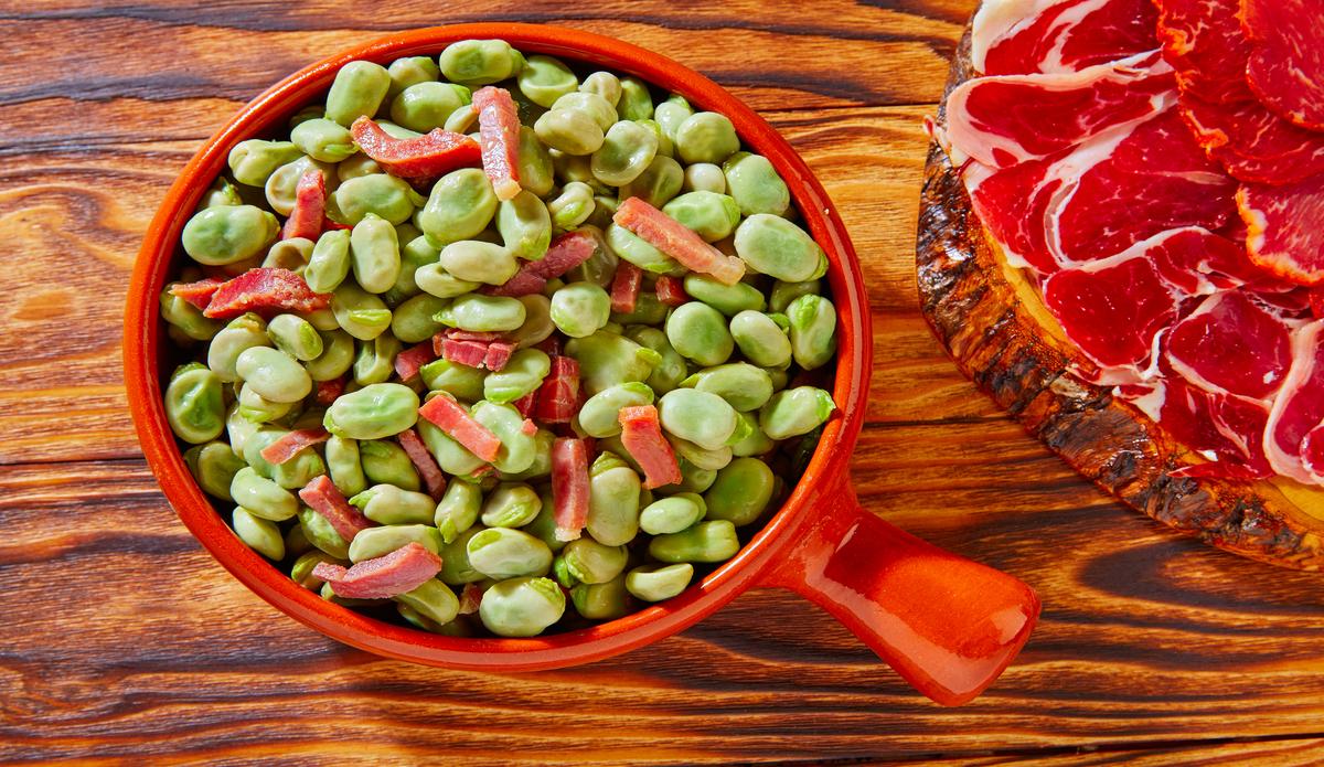 Receta de Habas con jamón fácil de preparar