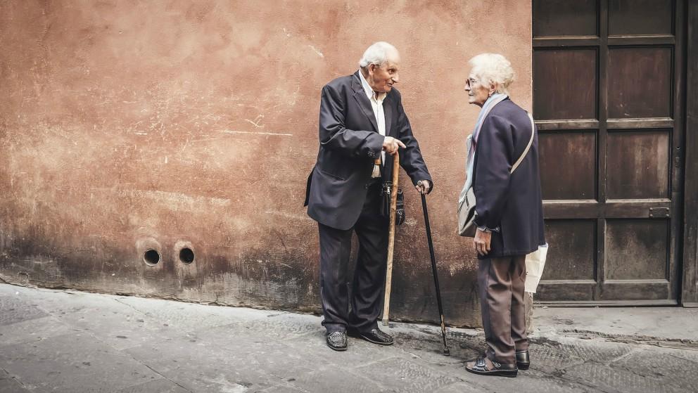 Jubilados en España.