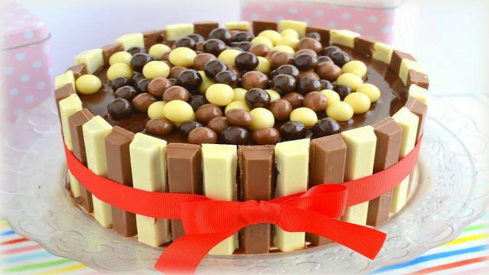 Receta de tarta de Kit Kat casera paso a paso