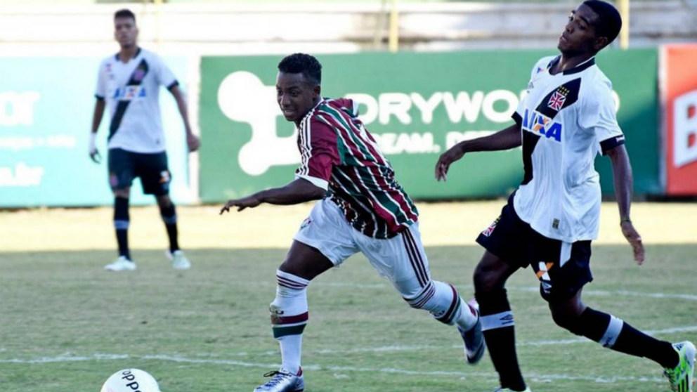 Wisney, en un partido con el Fluminense. (Divulgaçao/Fluminense FC)
