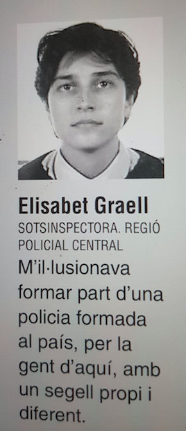 La subjefa de Mossos en Vic, Elisabet Graell