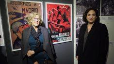 Carmena y Colau presentando la exposición. (Foto. Madrid)
