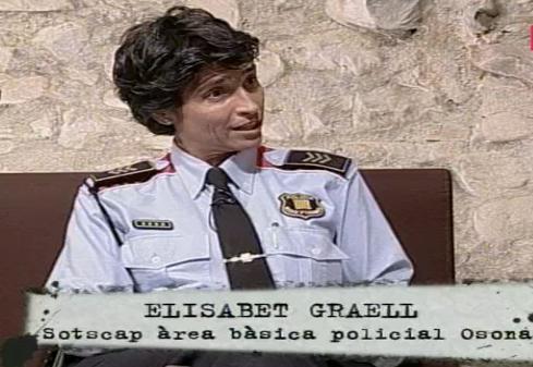 La subcomisaria separatista Elisabet Graell de los Mossos en Vic en televisión