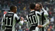 Los jugadores de la Juventus celebran un gol. (AFP)