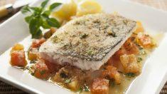Receta de Lubina a la sal con verduras paso a paso