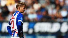 Martin Odegaard, durante un partido con el Heerenveen. (Getty)