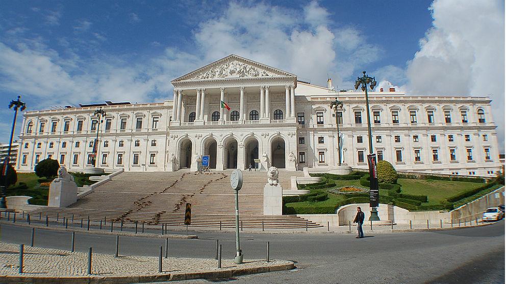 Fachada del Palacio Bento, sede del Parlamento de Portugal, en Lisboa.