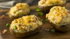 Receta de patatas rellenas de jamón y queso fácil de preparar