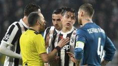 Sergio Ramos, en el partido contra la Juventus. (AFP)